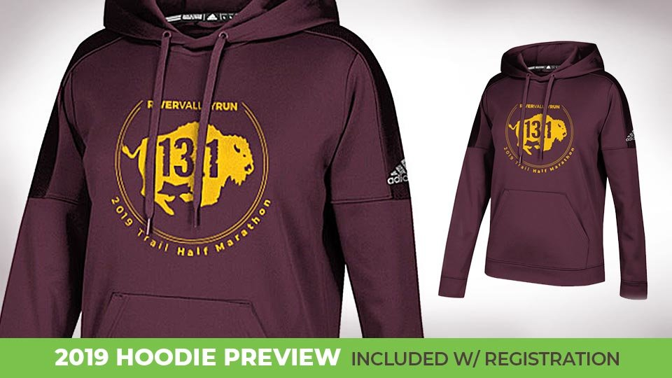 2019 hoodie preview, included with registration