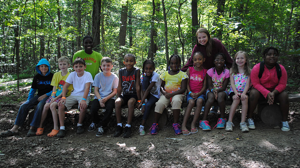 young campers at Arrowhead Woods