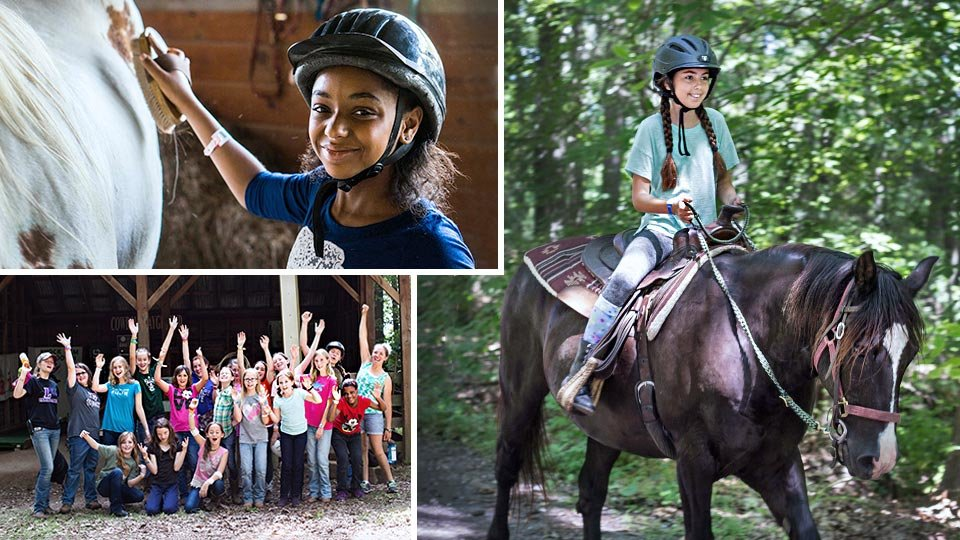 Junior Trail Riding campers