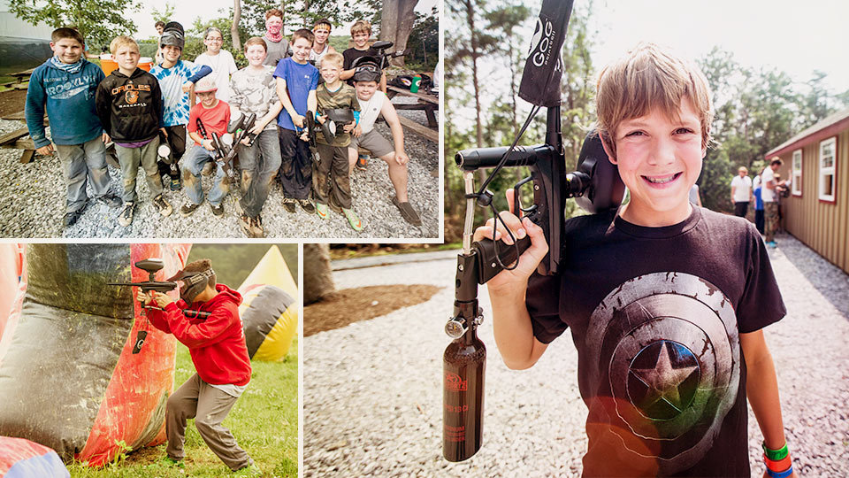 Junior Paintball campers
