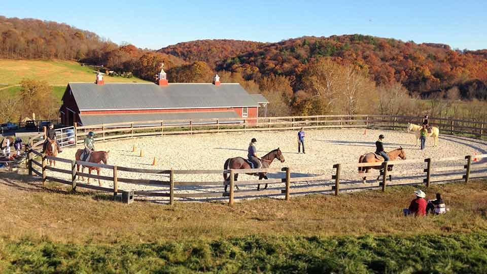 outdoor arena for riding lessons