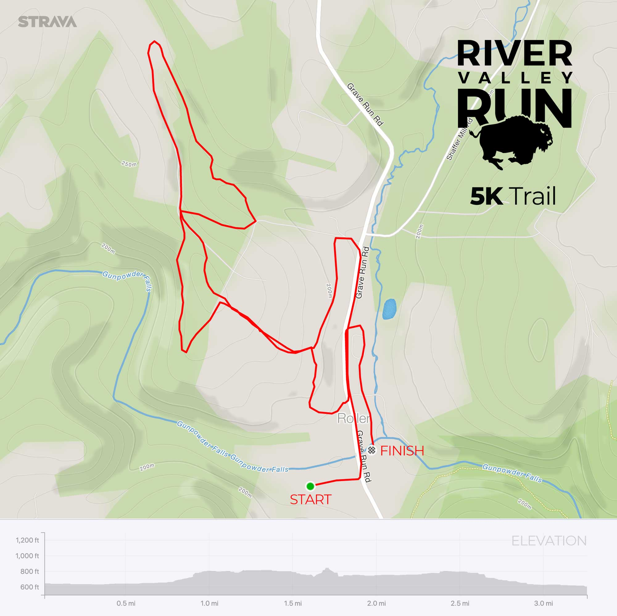 5K Trail Course Map