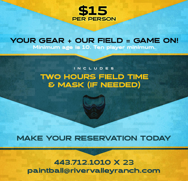 Paintball Airsoft Rates | $15 for 2 hours of field use