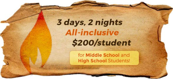 3-days & 2-nights, All-inclusive, $200 per student!