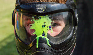 paintball splat on mask