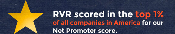 Top 1% of all companies in America for Net Promoter Score