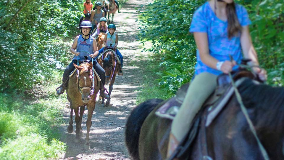 trail riding horse camp